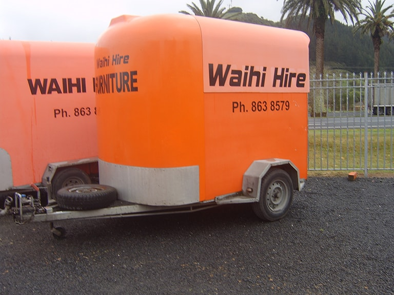 Furniture trailer single axle